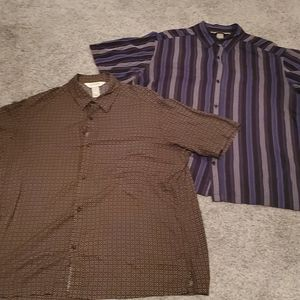 Pair of super comfortable button up shirts